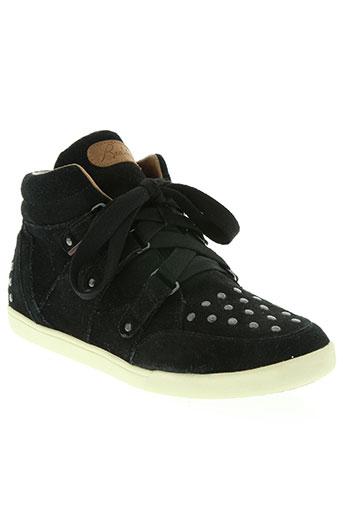 redskins chaussures femme de couleur noir
