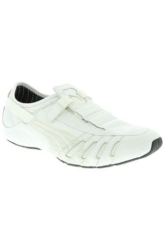puma chaussures homme de couleur blanc