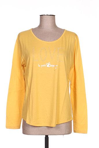 le petit baigneur t-shirts femme de couleur jaune