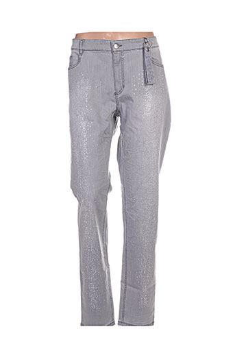 glücksmoment jeans femme de couleur gris