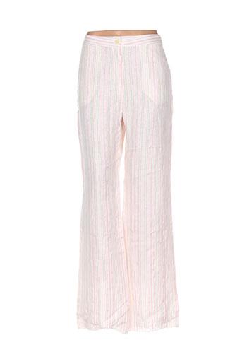 adolfo dominguez pantalons femme de couleur rose