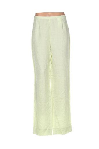 adolfo dominguez pantalons femme de couleur vert