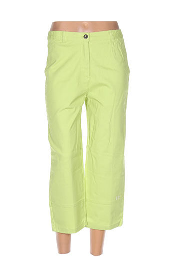terre de marins pantalons femme de couleur vert