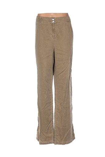 Pantalon casual beige BLEU DE SYM pour femme