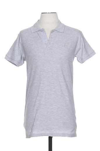Polo manches courtes gris JEAN-LOUIS SCHERRER pour homme