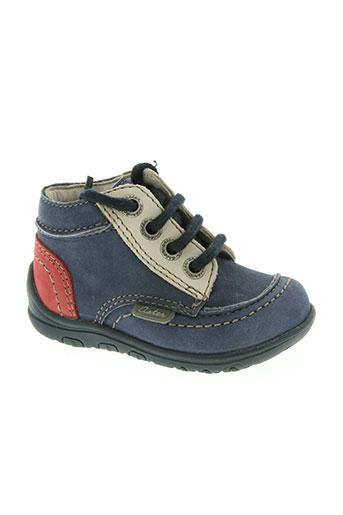 aster chaussures garçon de couleur bleu