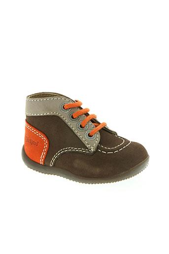 kickers chaussures enfant de couleur marron
