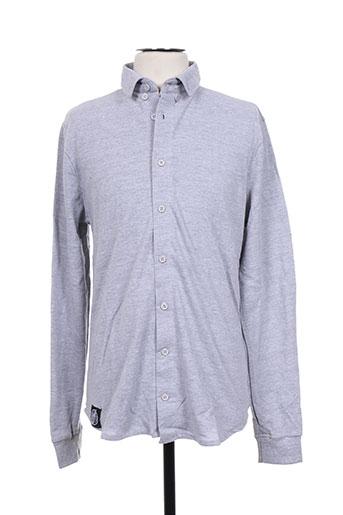 hopenlife chemises homme de couleur gris