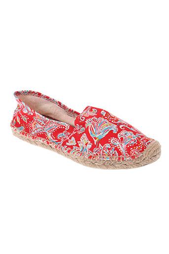 la fiancee du mekong chaussures femme de couleur rouge