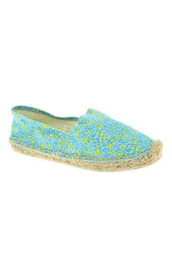 la fiancee du mekong chaussures femme de couleur bleu