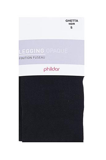 phildar pantalons femme de couleur noir