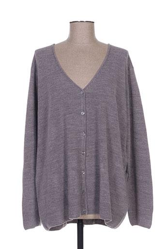 cashmere feeling gilets femme de couleur gris
