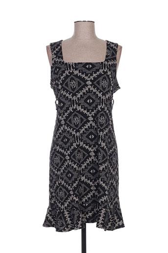 Robe mi-longue noir HIPPOCAMPE pour femme