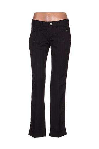 ddp pantalons femme de couleur noir