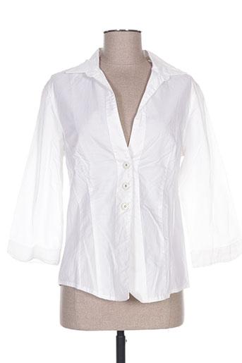jocavi chemises femme de couleur blanc