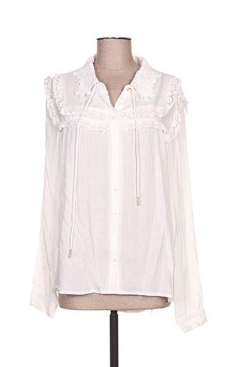 summum chemises femme de couleur blanc