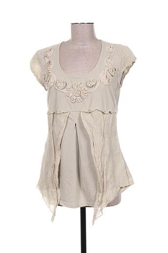 finette chemises femme de couleur beige