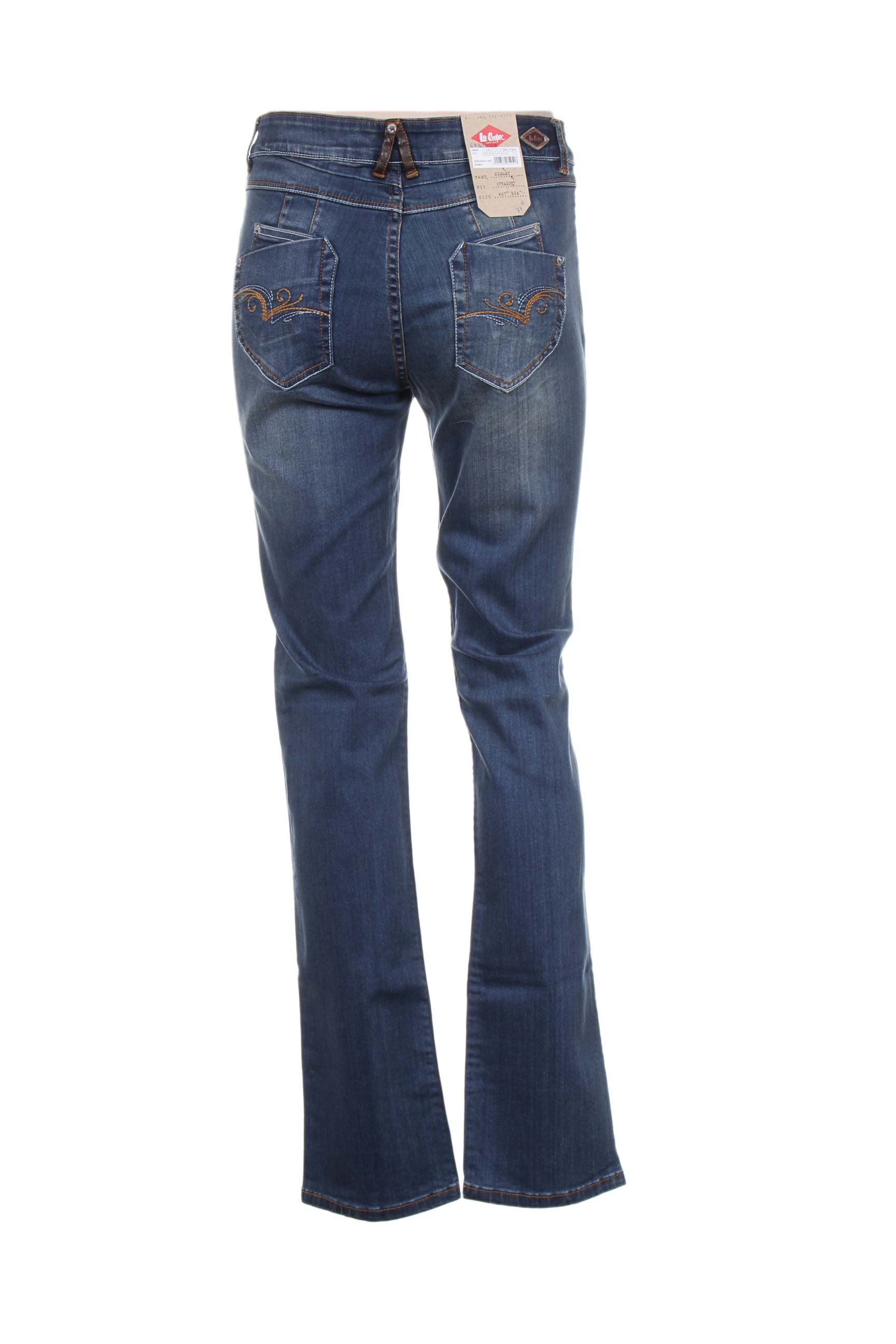 Lee Cooper Jeans Coupe Droite Femme De Couleur Bleu En Soldes Pas Cher 1200796-bleu00 - Modz