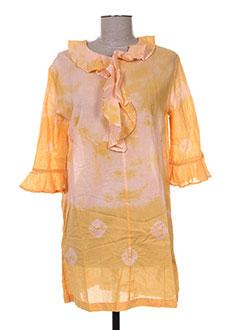 Robe courte jaune ANTIK BATIK pour femme