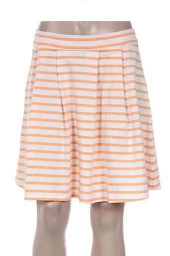 Jupe courte orange PETIT BATEAU pour femme