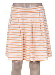 Jupe courte orange PETIT BATEAU pour femme seconde vue