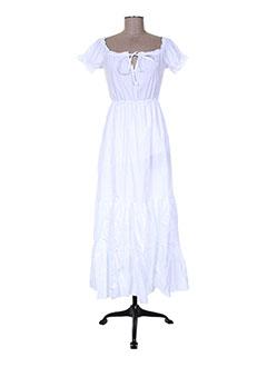Robe longue blanc ANGELA DAVIS pour femme