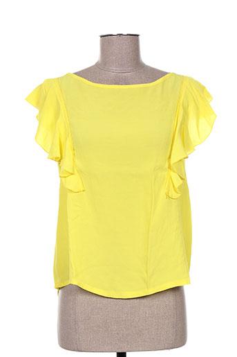 maryley t-shirts femme de couleur jaune