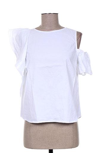 T-shirt manches courtes blanc ANGELA DAVIS pour femme