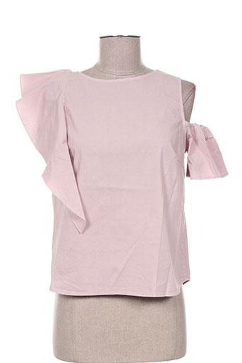 T-shirt manches courtes rose ANGELA DAVIS pour femme