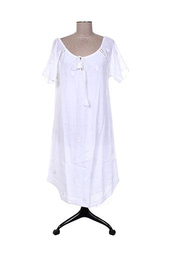 Robe mi-longue blanc CHARLIE JOE pour femme