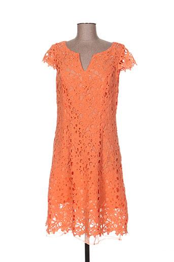 leslie robes femme de couleur orange