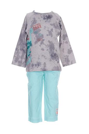 Top/pantalon bleu 3 POMMES pour garçon
