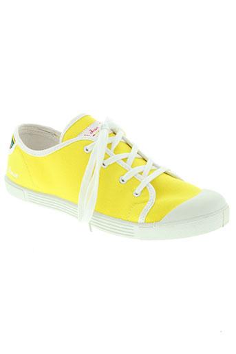 little marcel chaussures femme de couleur jaune