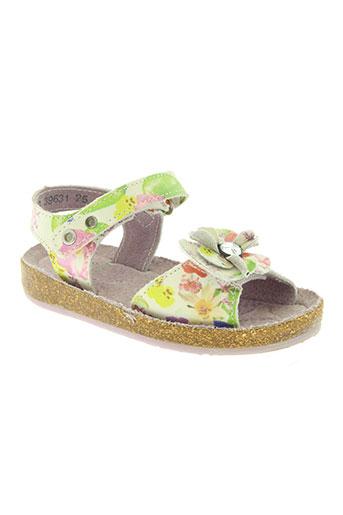 little mary chaussures fille de couleur vert