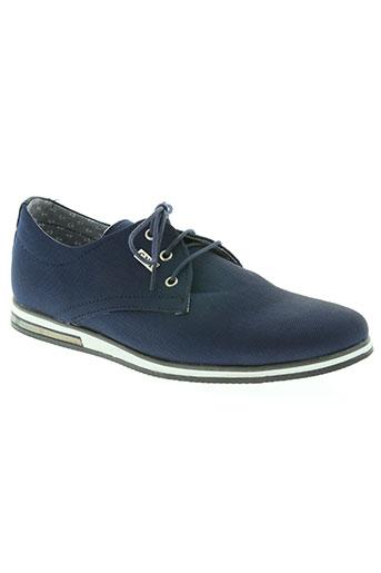 tamboga chaussures homme de couleur bleu