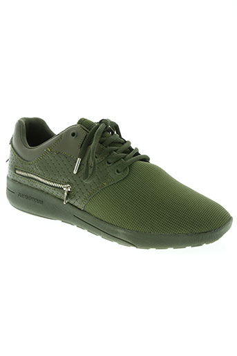 sixth june chaussures homme de couleur vert