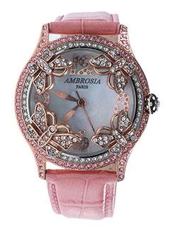 Montre rose AMBROSIA PARIS pour femme