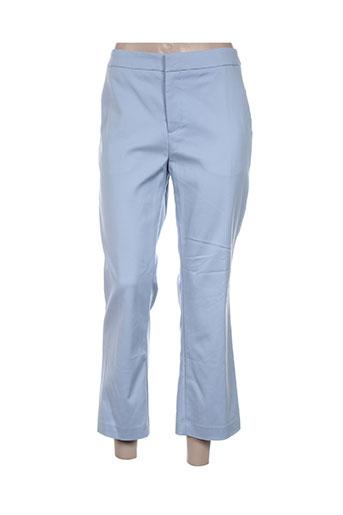 attentif pantalons femme de couleur bleu