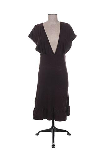 Robe mi-longue marron ENOLAH pour femme