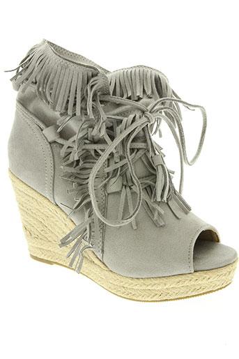 bellucci chaussures femme de couleur gris
