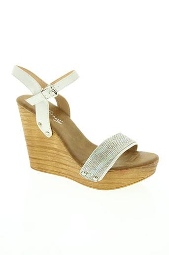 sinly shoes chaussures femme de couleur blanc