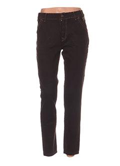Pantalon casual marron AQUAJEANS pour femme