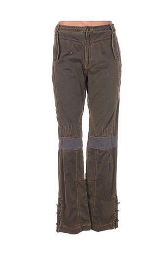 et compagnie pantalons femme de couleur vert