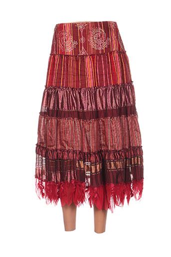 coco menthe jupes femme de couleur rouge