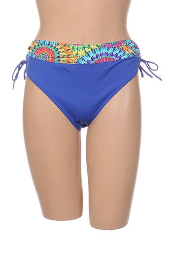 Bas de maillot de bain bleu GRAIN DE SABLE pour femme