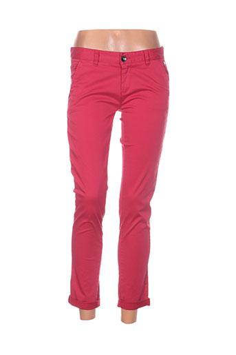 ddp pantalons femme de couleur rose