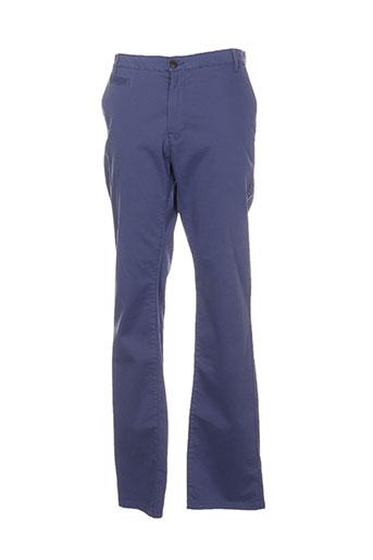 cambridge pantalons homme de couleur bleu