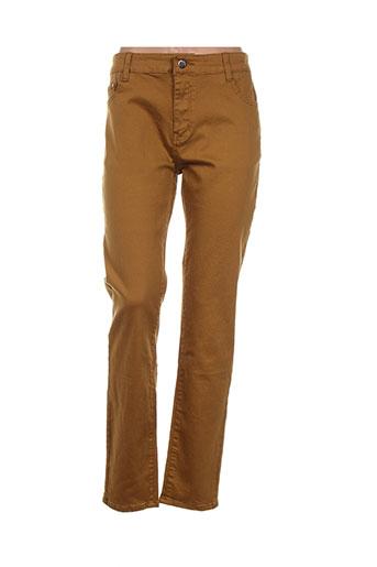 kalisson pantalons femme de couleur jaune