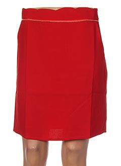 Jupe courte rouge SWEEWË pour femme