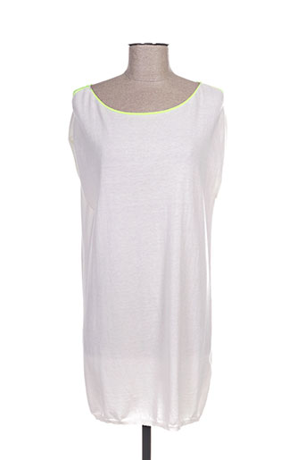 Robe pull blanc ALLUDE pour femme